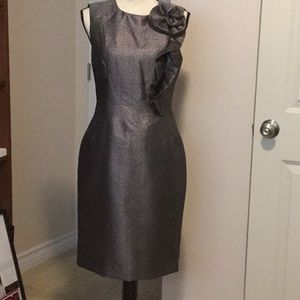 Lovely Silver Gray Cocktail Dress